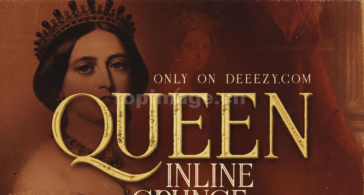 queen复古衬线经典英文字体下载