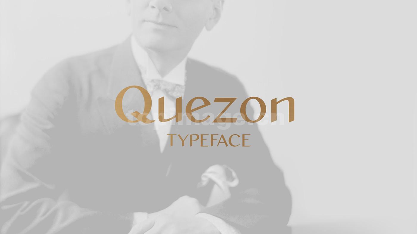 quezon简约时尚个性海报英文字体下载