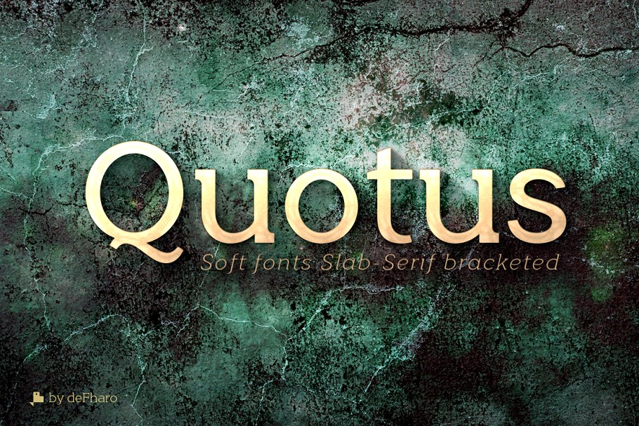 quotus现代衬线排版logo设计海报英文字体下载