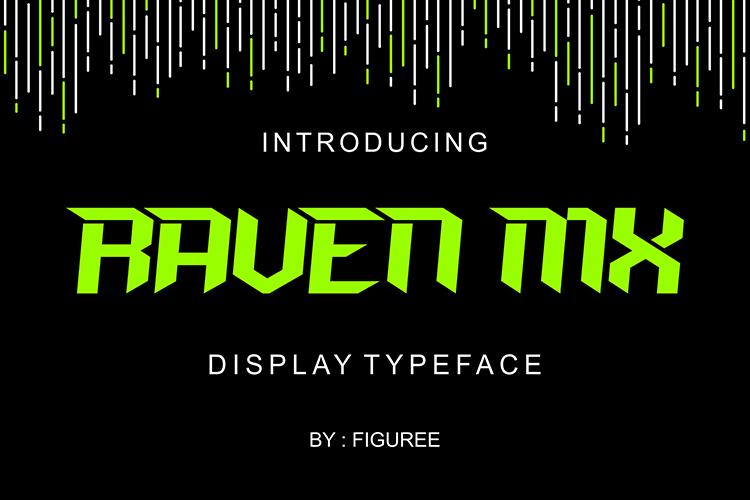 raven mx现代logo游戏英文字体下载