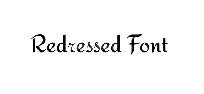 redressed连笔个性手写手绘英文字体下载