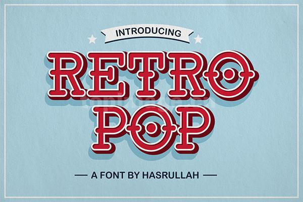 RetroPop复古罗马个性卡通海报英文字体下载