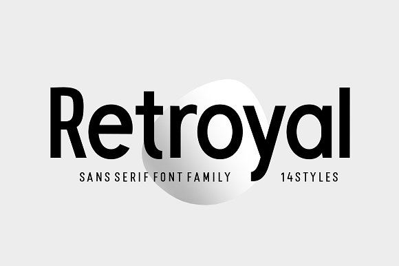 retroyal现代无衬线logo家族英文字体下载