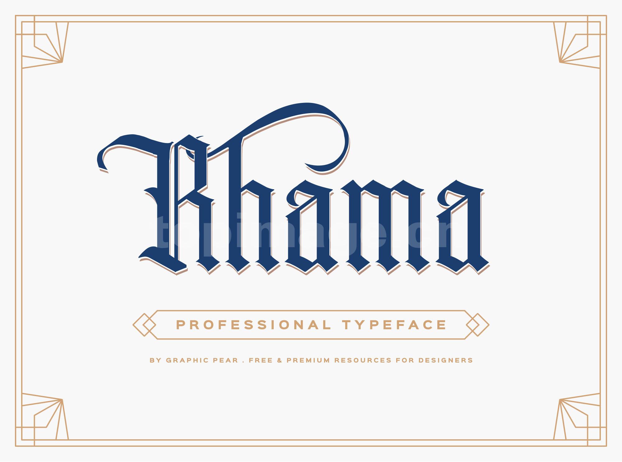 rhama复古罗马个性艺术英文字体下载
