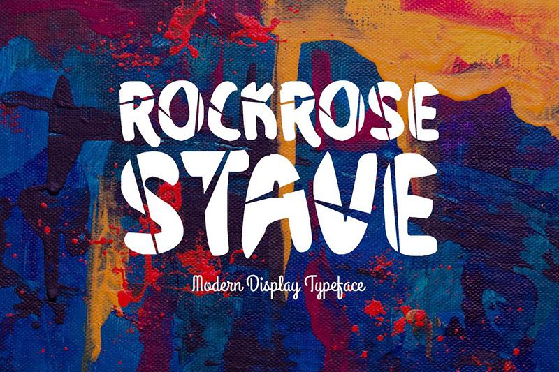 rockrose stave艺术个性创意抖音网红英文字体下载