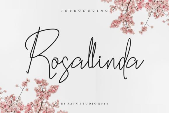 rosallinda个性手写海报签名英文字体下载