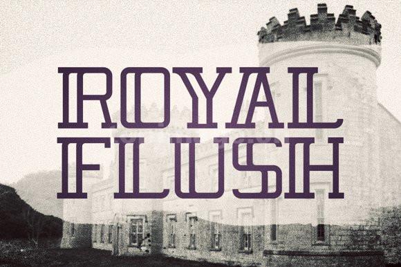 Royal_Flush现代简洁个性化艺术英文字体下载
