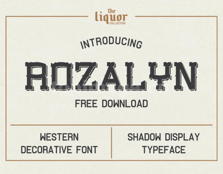 Rozalyn复古罗马个性哥特海报英文字体下载