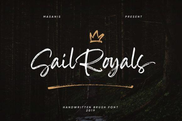 sail royals手写笔触手绘连笔电商设计英文字体下载