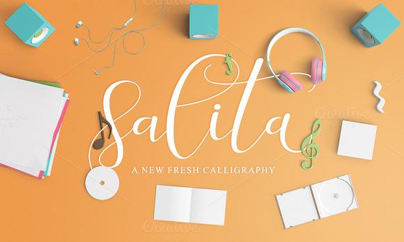 salita script 连笔手写简约花体英文下载