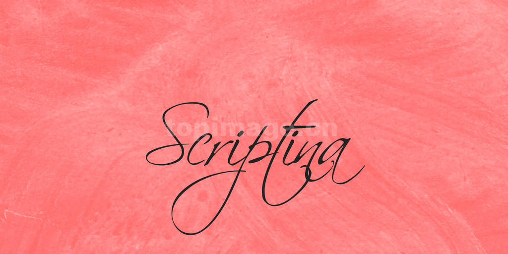 scriptina手绘手写风格笔刷英文连笔字体下载