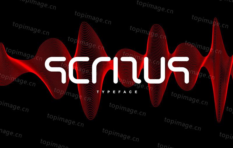 scritus无衬线现代简洁logo好看的英文字体大全下载