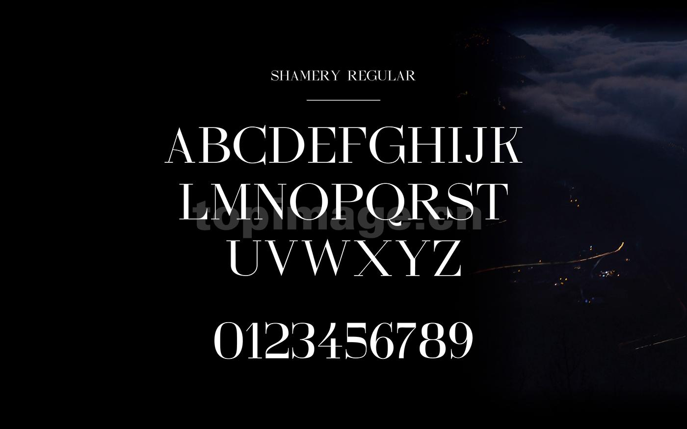 shamery秀气衬线纤细英文字体下载