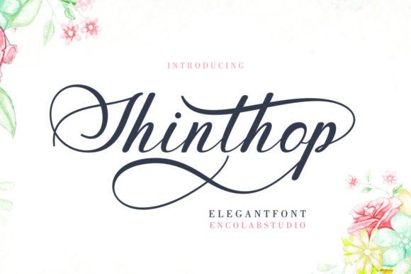 shinthop花式婚纱海报手写连笔英文字体下载