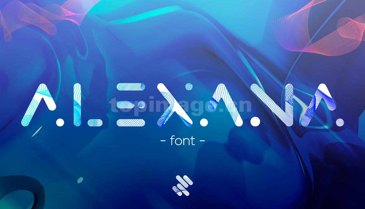 Alexana个性设计英文字体素材源文件下载现代