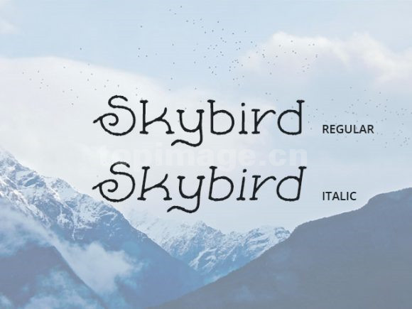skybird个性卡通儿童手写英文字体下载