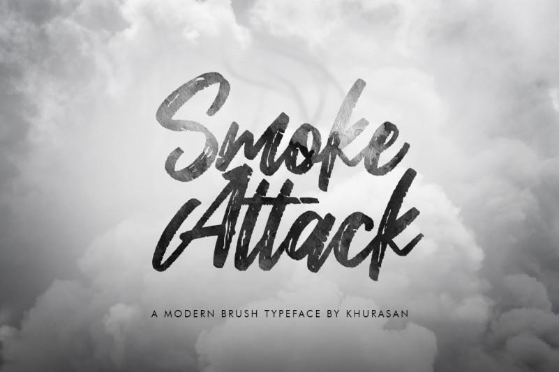 Smoke Attack高大上笔刷书法毛笔英文字体下载
