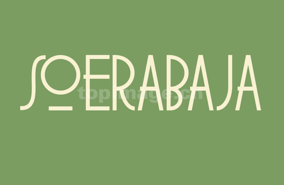 soerabaja现代个性简洁英文字体下载