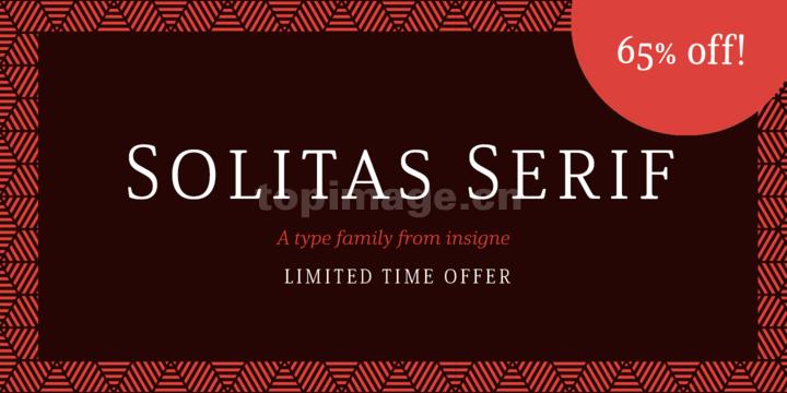 Solitas时尚简约海报极细现代英文字体下载