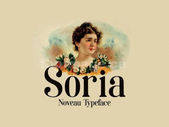 soria复古衬线古典英文字体下载