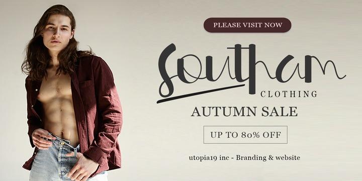 Southam电商时尚标题海报英文字体下载