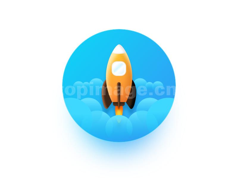 太空火箭flat icon 图标sketch源文件下载