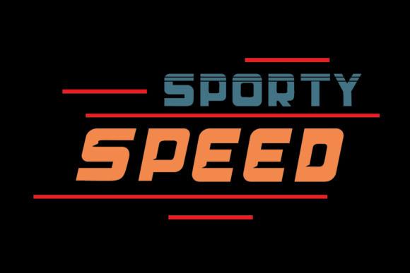 Sporty Speed运动动感设计健身房英文字体下载