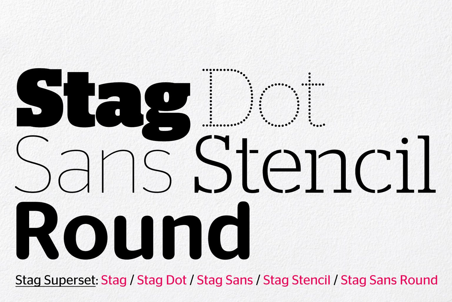 stag家族字体现代创意logo设计英文字体下载