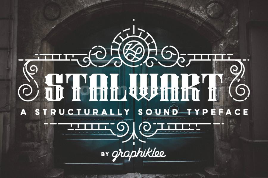 Stalwart复古异形哥特式个性质感海报英文字体下载
