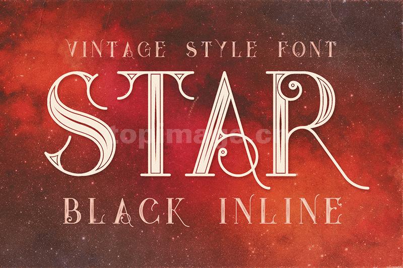 star线性复古罗马飘逸唯美个性海报英文字体下载