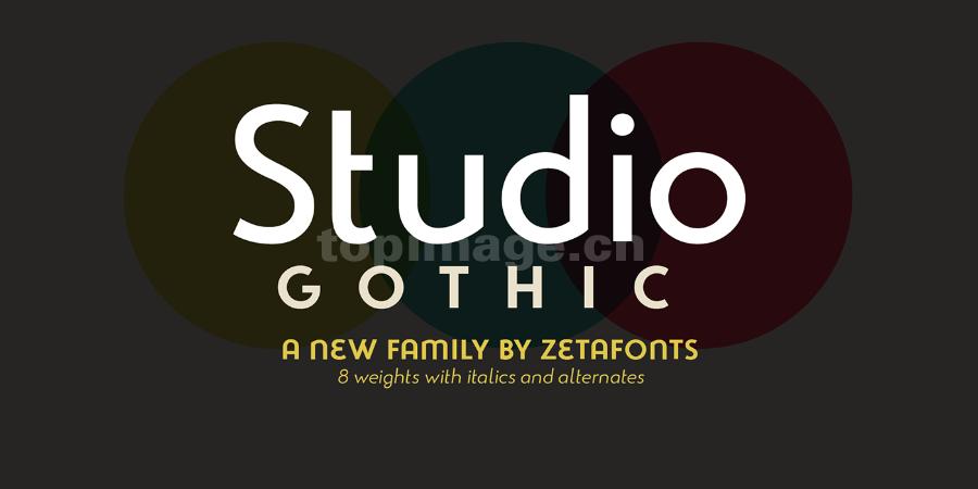 Studio-Gothic-Alternate现代简洁唯美海报英文字体下载