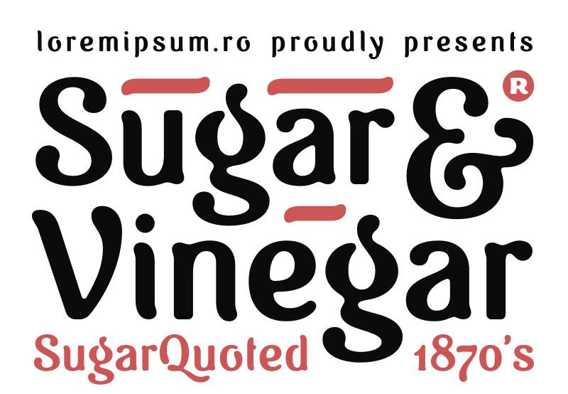 Sugar-vinegar复古罗马个性卡通艺术英文字体下载