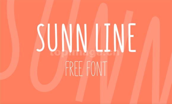 sunn简洁长纤细极简英文字体下载