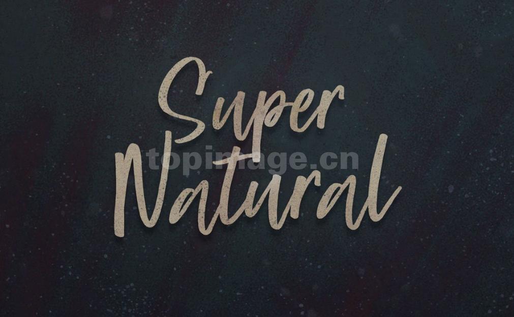 super_natural手写书法英文手绘艺术字体下载