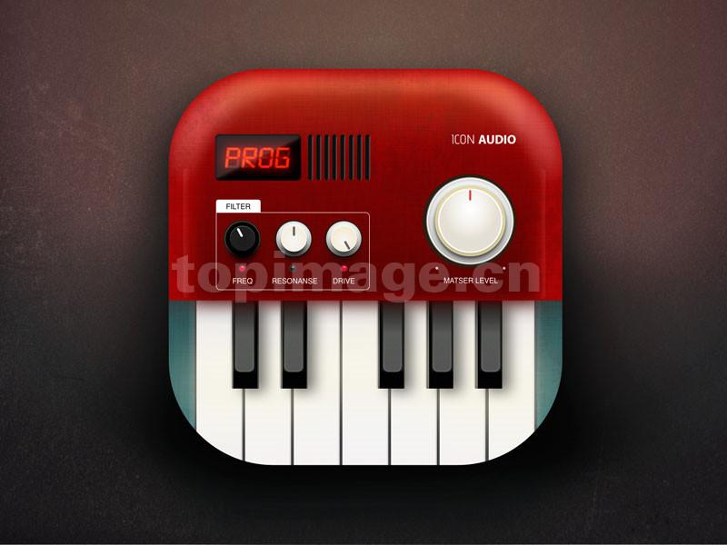 收音机 播放器 电子琴 应用图标 icon写实 矢量sketch下载