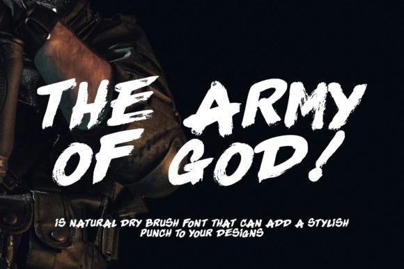 The Army Of God手写大气笔刷涂鸦海报英文字体下载