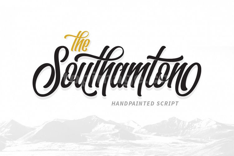 Southamton手写手绘连笔英文艺术字体