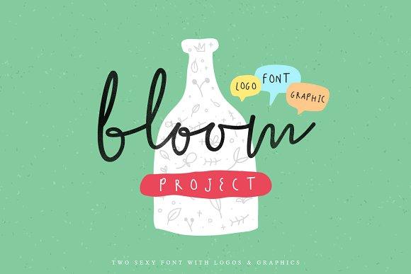the bloom 手写连笔英文字体下载