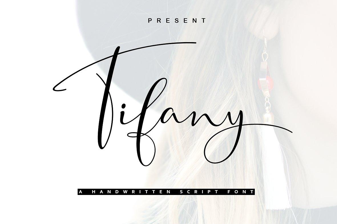 tifany手写连笔艺术婚礼签名英文字体下载