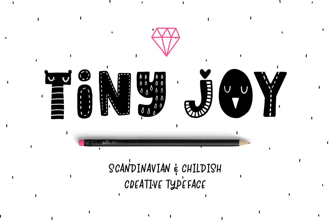 tiny joy可爱卡通手写儿童有趣英文字体下载