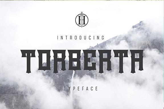 torberta现代哥特骨节纹身英文字体下载
