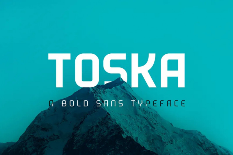 Toska现代无衬线logo设计排版英文字体下载