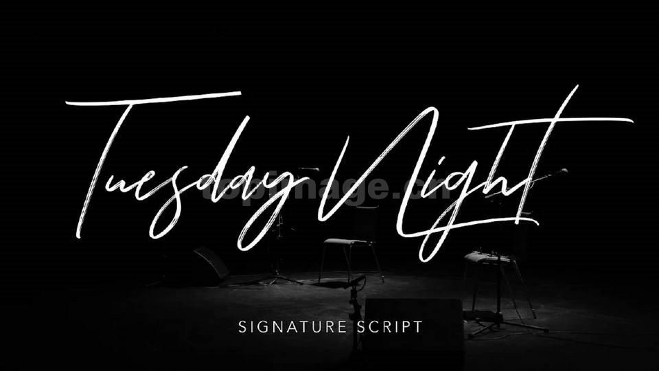 tuesday-night手写艺术连笔英文字体下载