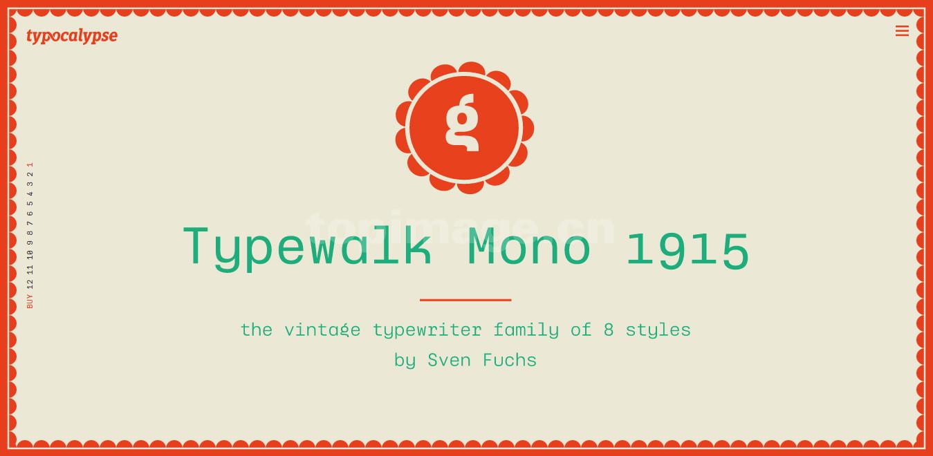 TypewalkMono1915现代好看的简洁适合logo英文字体下载