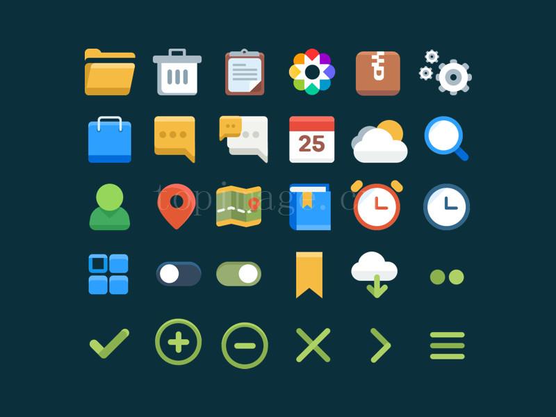 用户设置相关扁平flat图标icon源文件下载