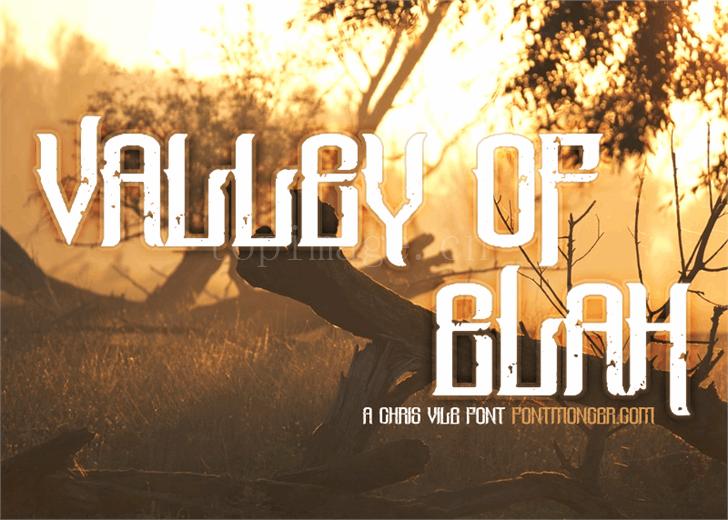 valley-of-elah简约个性斑驳质感艺术英文字体下载