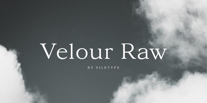 velour raw 衬线英文字体下载