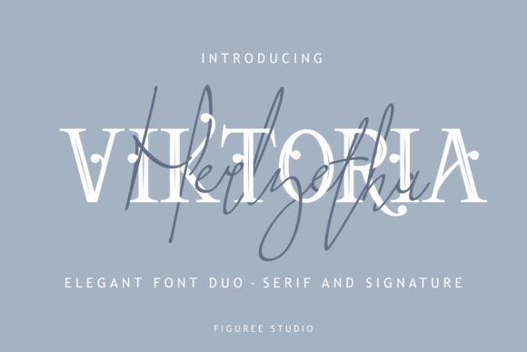 viktoria创意衬线及纤细个性手写英文字体下载