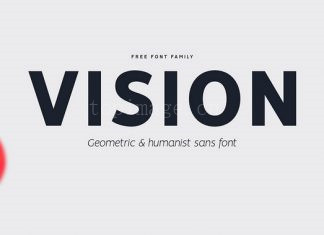 VISION现代简洁英文适合logo黑体英文字体下载