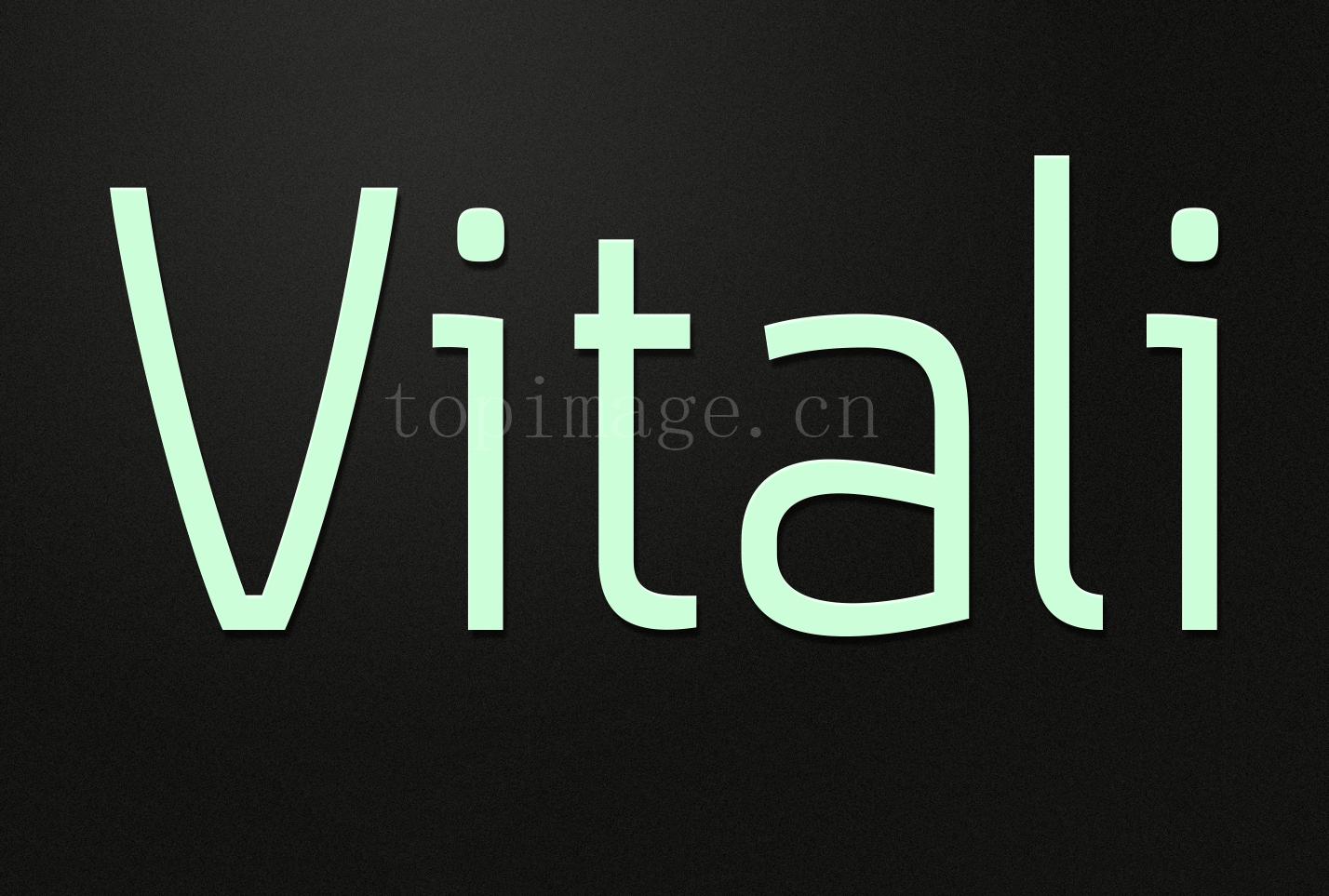 Vitali时尚简约海报logo现代英文字体下载